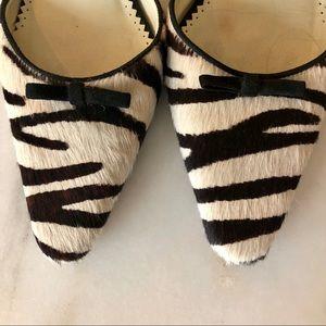 Lauren Ralph Lauren Shoes - Lauren RL calf hair, zebra kitten heel sling back